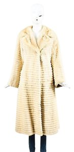 Other Vintage Fur Tiered Ribbed Oversized Long Coat