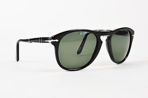 Persol Persol Black Foldable Polarized Teal Tinted Lenses Shw Aviator Sunglasses