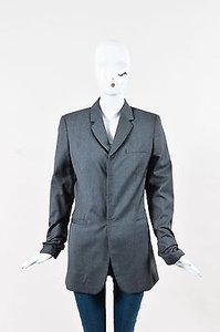 Jean-Paul Gaultier Jean Paul Gaultier Classique Gray Virgin Wool Pinstriped Blazer