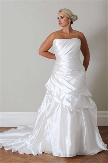 Callista White Taffeta 4092 Wedding Dress Size 20 (Plus 1x)
