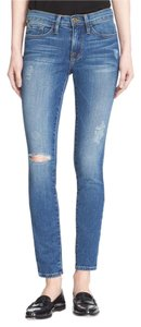 Frame Denim Skinny Jewell Denim Frame Skinny Jeans-Distressed