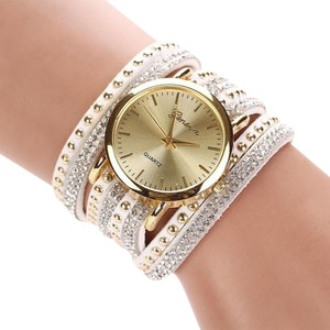 Other New White Gold Tone Wrap Around Wrist Watch J2996