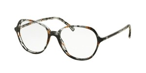 Chanel Chanel Brown Tweed Rounded Eyeglasses