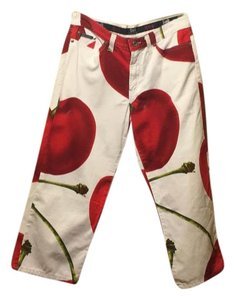 Dolce&Gabbana Capris White/red