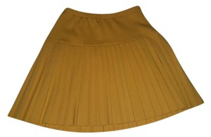 Escada Pleated Vintage Skirt Mustard Yellow