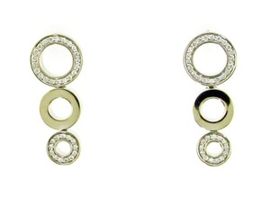 18k gold and diamond circle earrings