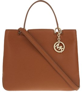 Michael Kors Medium Anabelle Top Zip Top Handle Tote in Acorn / Gold