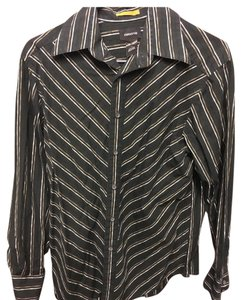 Liz Claiborne Button Down Shirt Black