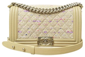 Chanel Tweed Calfskin Medium Boy Shoulder Bag