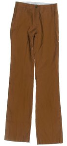 Céline Linen Lined Straight Pants Brown