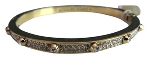 Michael Kors Nwt Michael Kors Astor Gold Tone Clear Pave Stones Bangle Bracelet