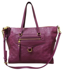 Louis Vuitton Lv Monogram Leather Calfskin Satchel in Burgundy