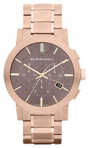 Burberry Brand new Burberry The City Rose Gold Chrono Mens Watch Bu9353