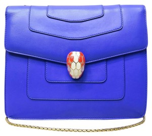 BVLGARI Calfskin Flap Shoulder Bag