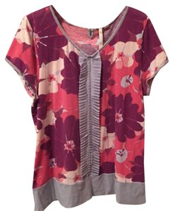 Anthropologie T Shirt Pink, purple, grey