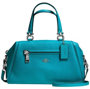 Coach Pebbled Primrose Satchel in Blue