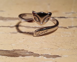 Other Sterling Silver Fox Love Ring