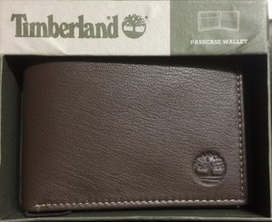 Timberland Mens Rugged Leather Wallet Timberland Delta Flip Up ID Passcase Bifold