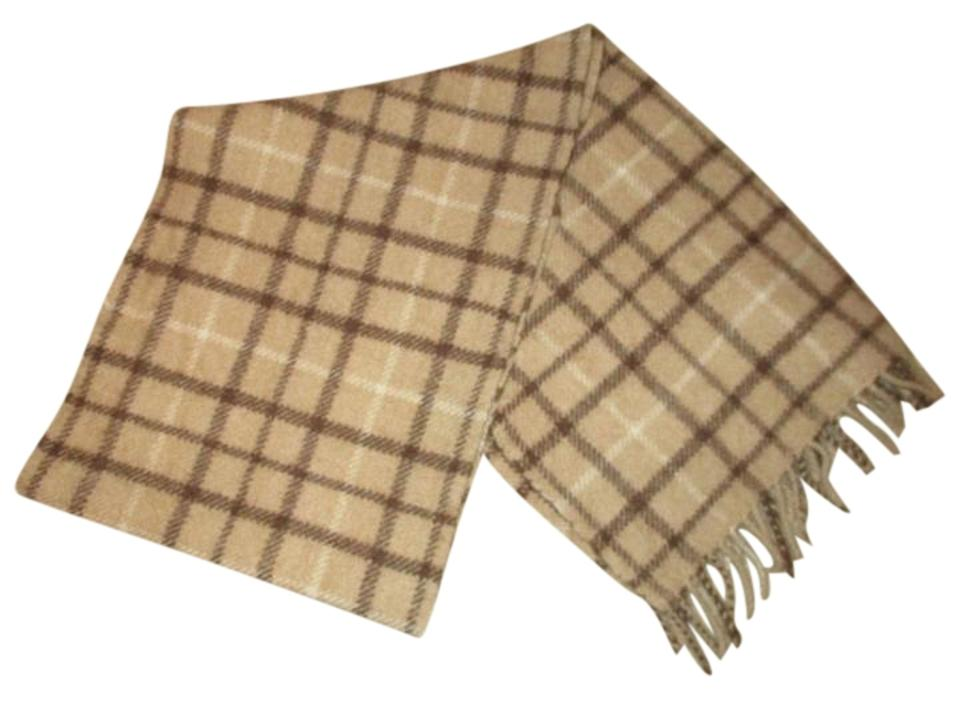 904e3c136 Brooks Brothers Tan Brown & Beige Fringed Tattersall Camel Hair ...