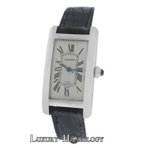 Cartier Ladies Cartier Tank Americane 1726 Automatic 18K White Gold Date