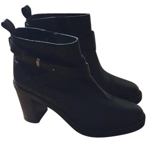 Rebecca Taylor Ankle Made In Italy Leather Comfortable Black Boots