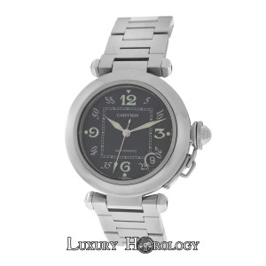 Cartier Mint Midsize Cartier Pasha 2324 Stainless Steel Date Automatic 35MM