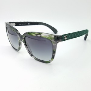 Chanel 2016 Limited Exceptional Green Denim Sunglasses 5343 c.1553/S6 56