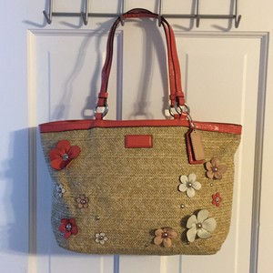 Coach pink purses bags up 70 70 off at tradesy coach tote in tan and pink mightylinksfo