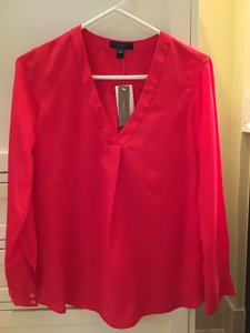 J.Crew Red Nwt Top Red silk