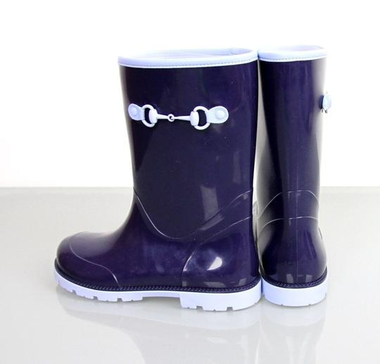Gucci Blue Horsebit Kids Unisex Childrens Rain Boot W/Horsebit G 23/ Us 7 285287 285288 Shoes