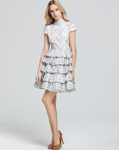 Alice + Olivia Tiered Ruffle Lace Dress