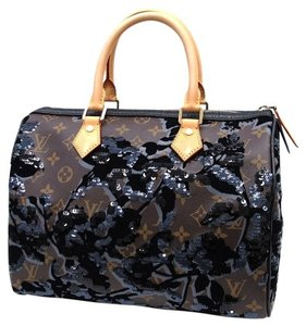 Louis Vuitton Fleur De Jais Speedy 30 Speedy Lv Speedy Satchel in Brown/Black