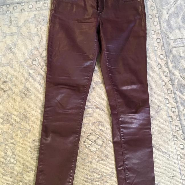 Preload https://img-static.tradesy.com/item/19996996/ag-adriano-goldschmied-wine-leatherette-coated-ankle-skinny-jeans-size-29-6-m-0-0-650-650.jpg