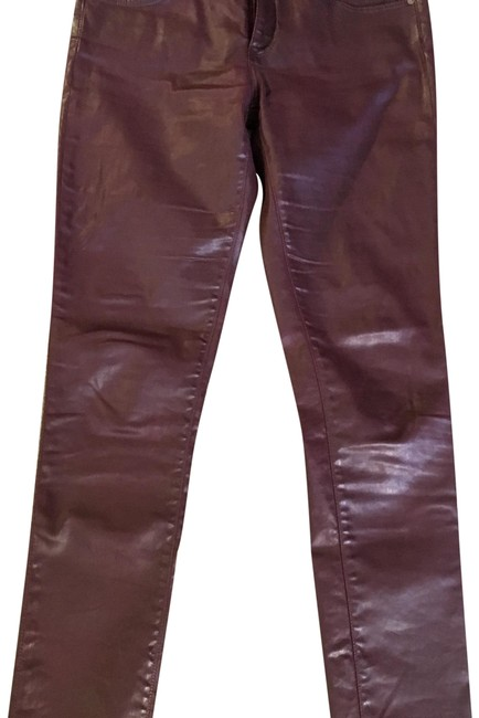Preload https://img-static.tradesy.com/item/19996996/ag-adriano-goldschmied-wine-leatherette-coated-ankle-skinny-jeans-size-29-6-m-0-1-650-650.jpg