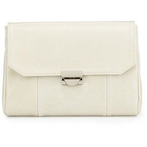 Lauren Merkin Nude Leather Bone Clutch
