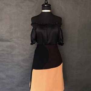 Harvé Benard Skirt Brown and Black