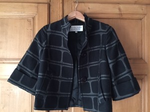 Trina Turk Cropped Wool Made In The Us Black Jacket