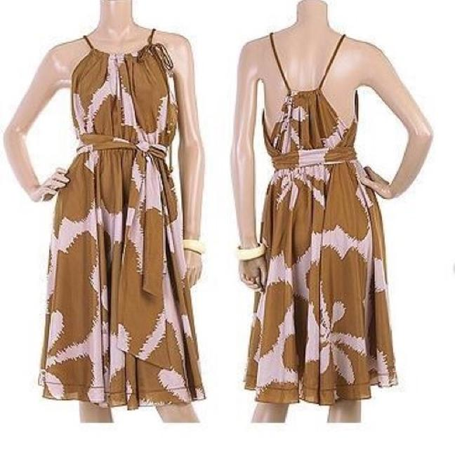 Item - Brown Naro Knee Length Formal Dress Size 0 (XS)