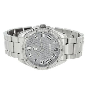 IceTime Mens Real Diamond Watches Icetime Luxury Style Roman Numeral Dial