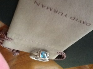 David Yurman Blue/Silver Petite Albion Ring