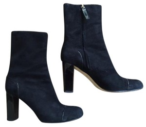 Kate Spade Suede Chunky Made In Italy Ankle Black Boots