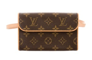 Louis Vuitton Lv Monogram Gold Hardware Brown, Beige Messenger Bag
