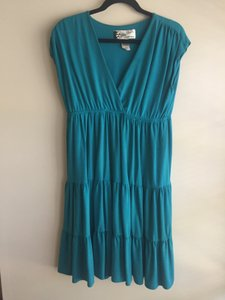 Oleg Cassini short dress Teal on Tradesy
