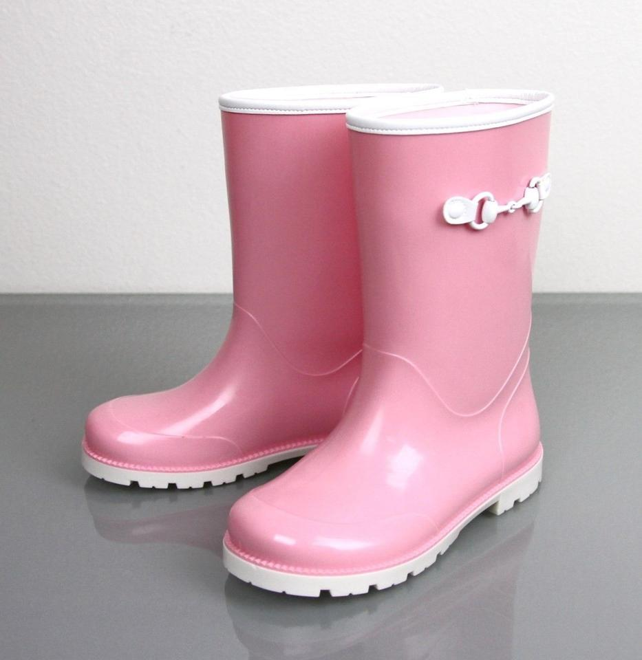 ea63c2586bc43 Gucci Pink Horsebit Kids Unisex Childrens Rain Boot W Horsebit G 30  Us  12.5 285287 285288 Shoes - Tradesy