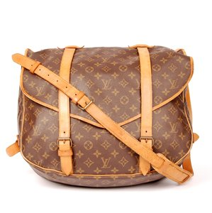 Louis Vuitton Monogram Canvas Saumur Luggage' Brown Messenger Bag
