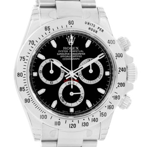 Rolex Rolex Cosmograph Daytona Black Dial Steel Mens Watch 116520 Unworn