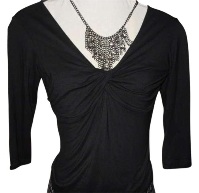 Preload https://item5.tradesy.com/images/vanity-black-34-sleeve-knit-night-out-top-size-petite-4-s-199974-0-0.jpg?width=400&height=650