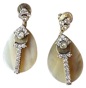 Silpada Silpada Horn Swarovski Crystals Embellished Elements Brass Earrings