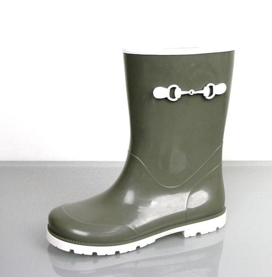 Gucci Green Horsebit Kids Unisex Childrens Rain Boot W/Horsebit G 33/ Us 2 285287 285288 Shoes