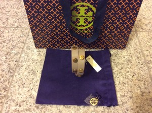 Tory Burch Tory Burch Double Wrap Logo Stud Bracelet NWT Gray SOLD OUT